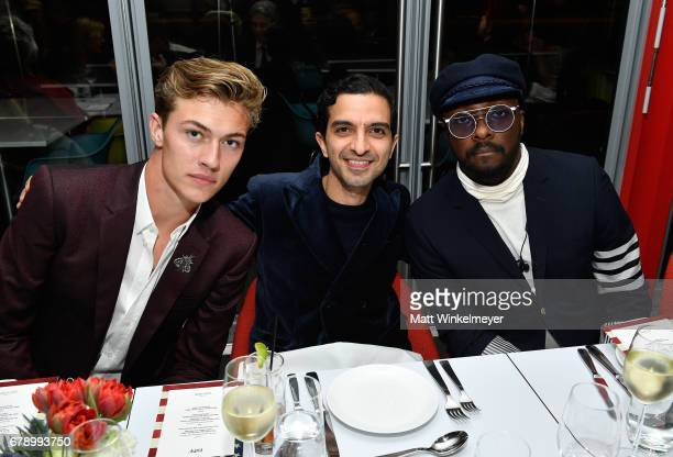 Model Lucky Blue Smith The Business of Fashion founder and editorinchief Imran Amed and recording artist william attend an intimate dinner to...