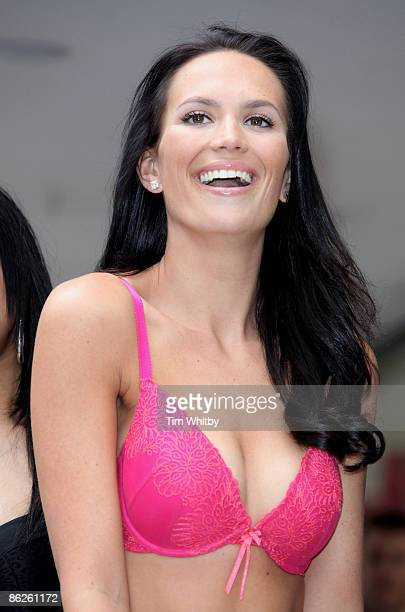 Model Lucy Clarkson helps launch Ultimo's Bra Clinic which is part of Debenhams national Bra Fit Initiative at Debenhams Oxford Street on April 2009...