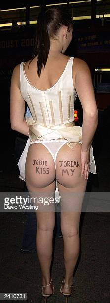 Model Lucy Clarkson leaves the after party for The UK Premiere of Lara Croft Tomb Raider The Cradle of Life August 19 2003 in London England She...