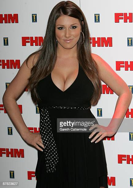 Model Lucy Pinder arrives at The FHM 100 Sexiest Women In The World Party 2006 at Madame Tussauds on May 03 2006 in London England