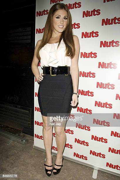 Model Lucy Pinder attends the Nuts Magazine CoverGirls Party 2009 at Vendome on February 4 2009 in London England