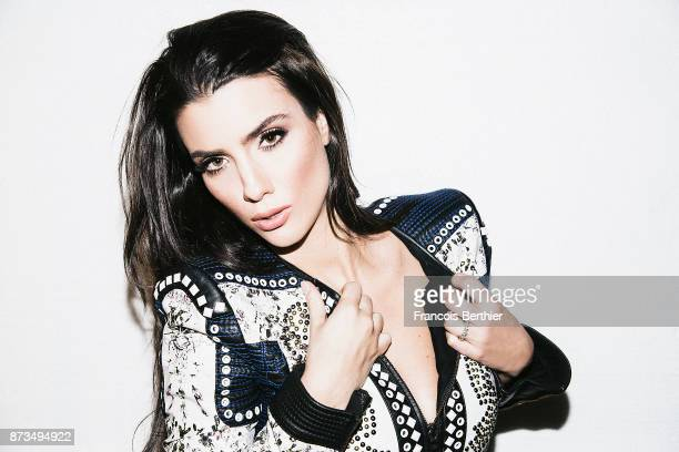 Model Ludivine Sagna is photographed for Self Assignment on January 2015 in Paris France
