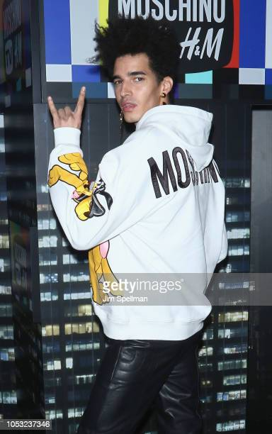 Model Luis Borges attends the Moschino x HM show at Pier 36 on October 24 2018 in New York City