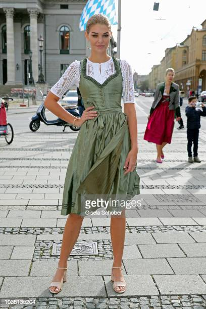 Model Luisa Hartema during the 'Fruehstueck bei Tiffany' at Tiffany Store ahead of the Oktoberfest on September 22 2018 in Munich Germany
