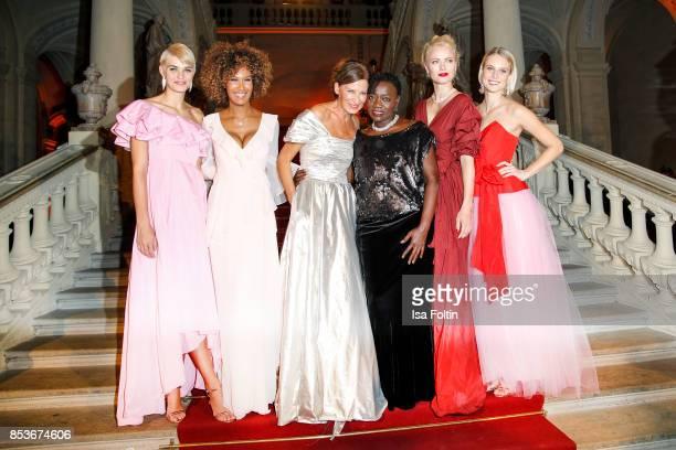 Model Luisa Hartema model Marie Amiere Minx Designer Eva Lutz Auma Obama halfsister of former US president Barack Obama model Franziska Knuppe and...