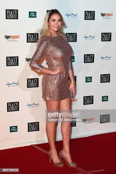 Model Luissa Burton attends the Birmingham Premiere of Peaky Blinders at cineworld on October 30 2017 in Birmingham England