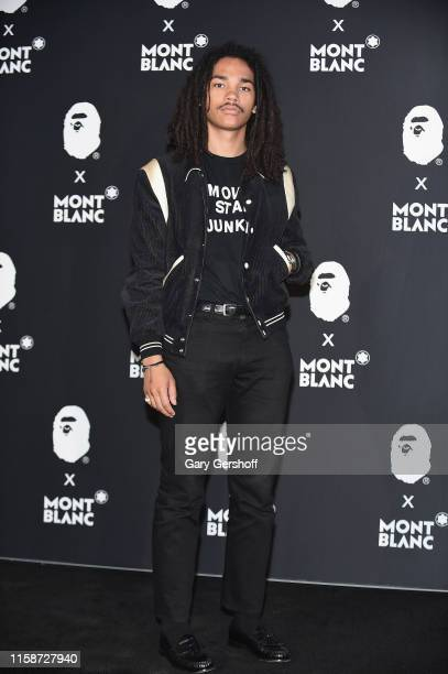 Model Luka Sabbat attends the Montblanc x BAPE launch event at Studio 10 on June 27 2019 in New York City