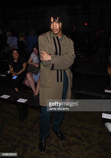 Model Luka Sabbat atttends Public School's Women's and Men's Spring 2017 collection at Cedar Lake on June 7 2016 in New York City