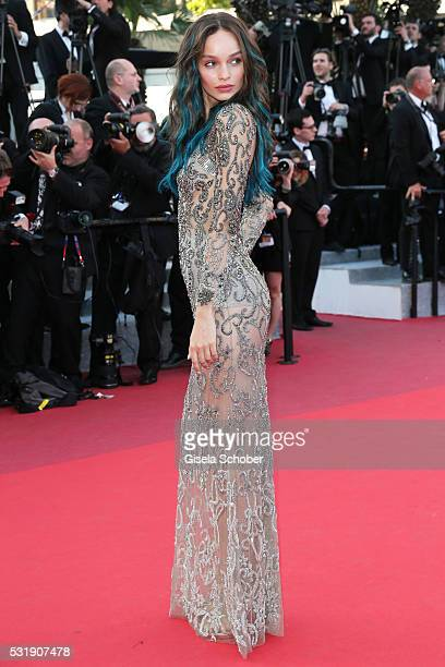 Model Luma Grothe attends the Julieta premiere during the 69th annual Cannes Film Festival at the Palais des Festivals on May 17 2016 in Cannes France