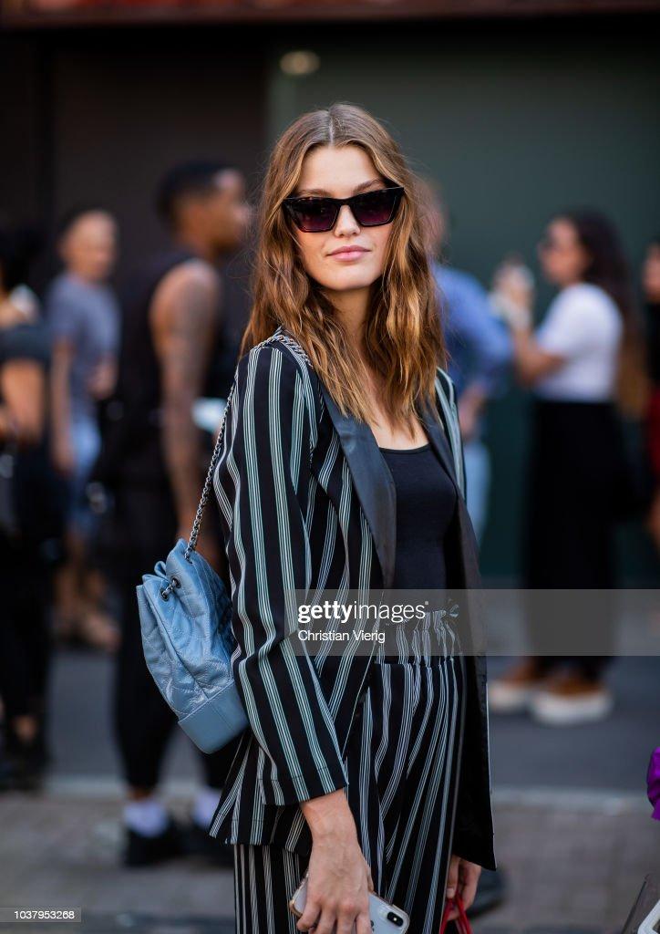 Street Style: September 21 - Milan Fashion Week Spring/Summer 2019 : ニュース写真
