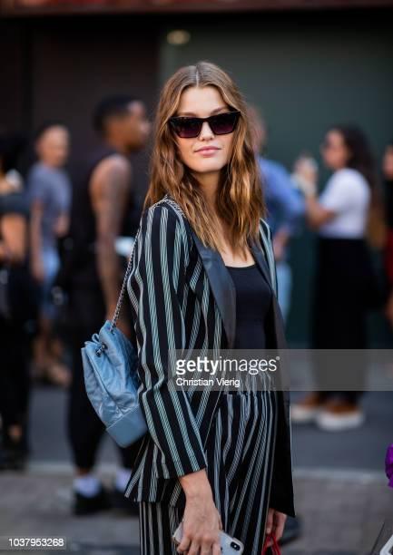 Model Luna Bijl is seen outside Etro during Milan Fashion Week Spring/Summer 2019 on September 21 2018 in Milan Italy