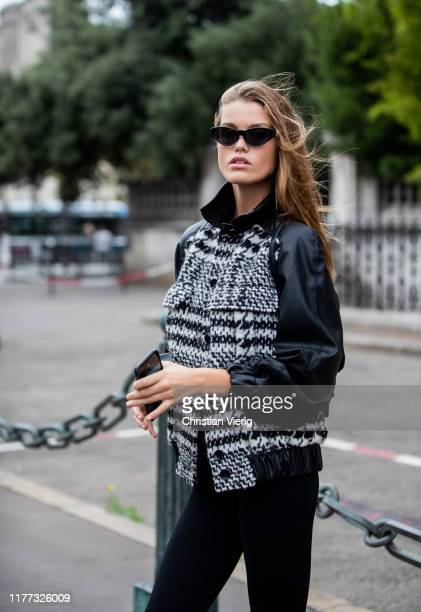 Model Luna Bijl is seen outside Redemption during Paris Fashion Week Womenswear Spring Summer 2020 on September 26, 2019 in Paris, France.