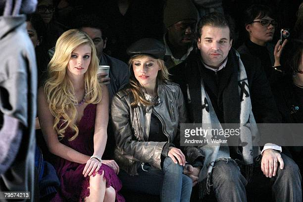 Model Lydia Hearst Actor Brittany Murphy and Simon Monjack attend the Diesel Fall 2008 fashion show during MercedesBenz Fashion Week Fall 2008 at The...