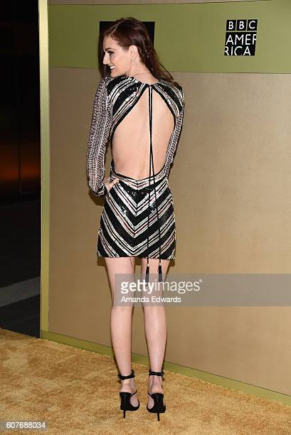 Model Lydia Hearst arrives at the AMC Networks' 68th Primetime Emmy Awards AfterParty Celebration at BOA Steakhouse on September 18 2016 in West...