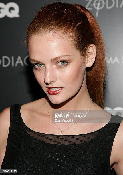 Model Lydia Hearst attends a special screening of Zodiac hosted by The Cinema Society and GQ Magazine at the Tribeca Grand Hotel Screening Room...