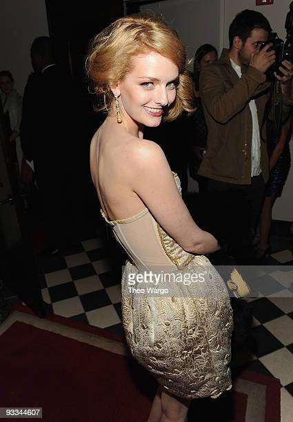 """Model Lydia Hearst attends the after party for The Cinema Society with Screenvision & Brooks Brothers screening of """"Me And Orson Welles"""" at Gramercy..."""
