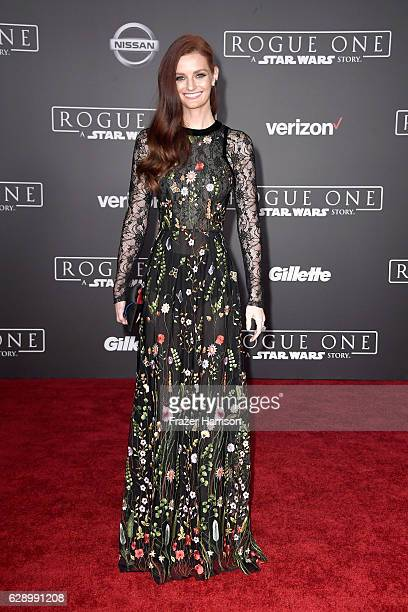 Model Lydia Hearst attends the premiere of Walt Disney Pictures and Lucasfilm's Rogue One A Star Wars Story at the Pantages Theatre on December 10...