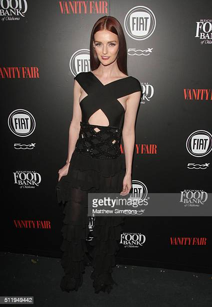 Model Lydia Hearst attends Vanity Fair and FIAT Toast To Young Hollywood at Chateau Marmont on February 23 2016 in Los Angeles California