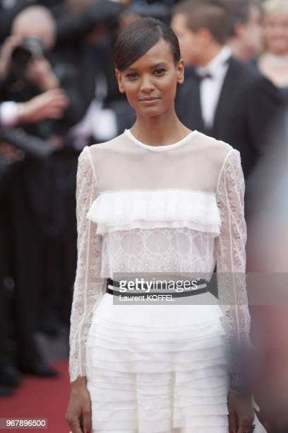 Model Lyia Kebede attends the 'Jeune Jolie' premiere during The 66th Annual Cannes Film Festival at the Palais des Festivals on May 16 2013 in Cannes...