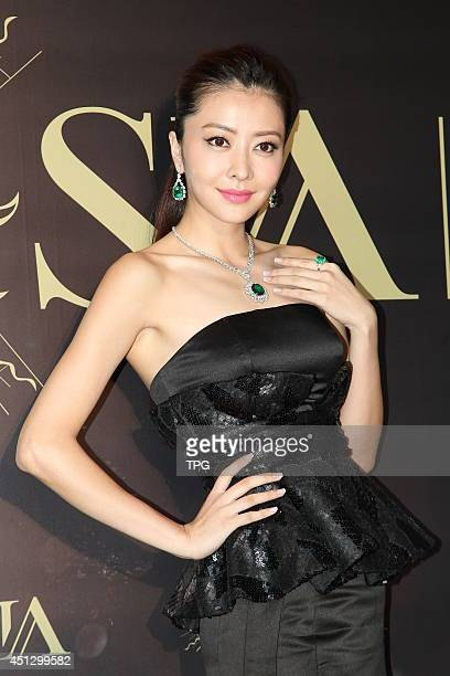 Model Lynn Hung attends SIA exhibition on Thursday June 262014 in Hong KongChina