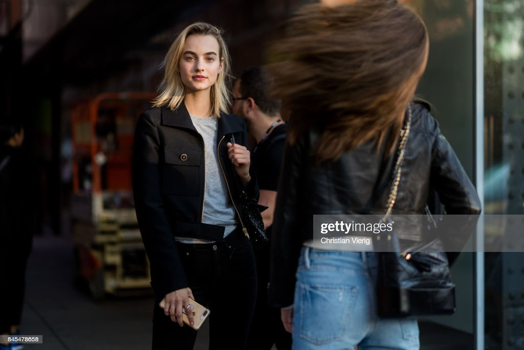 Model Maartje Verhoef seen in the streets of Manhattan outside Diane von Furstenberg during New York Fashion Week on September 10, 2017 in New York City.