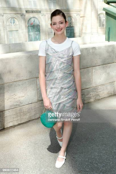 Model Mackenzie Foy attends the Chanel Haute Couture Fall Winter 2018/2019 show as part of Paris Fashion Week on July 3 2018 in Paris France