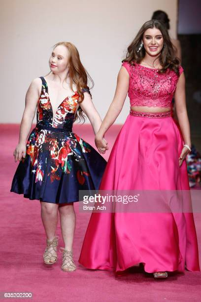 Model Madeline Stuart and Dancer Kalani Hilliker attend Nolcha Shows Runway New York Fashion Week Fall Winter 2017 at ArtBeam on February 13 2017 in...