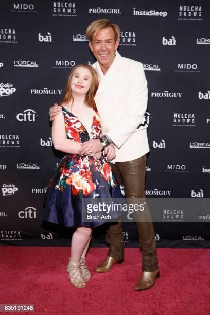 Model Madeline Stuart and Fashion stylist Derek Warburton attend Nolcha Shows Runway New York Fashion Week Fall Winter 2017 at ArtBeam on February...