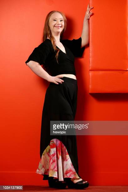 Model Madeline Stuart poses during a photo shoot in Sydney, New South Wales. Madeline, who has Down Syndrome, is an advocate for inclusiveness and...