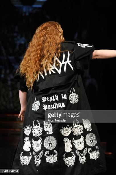 Model Madeline Stuart walks the runway for Dexter Simmons Fashion Show at Art Hearts Fashion SS/18 at The Angel Orensanz Foundation on September 7,...