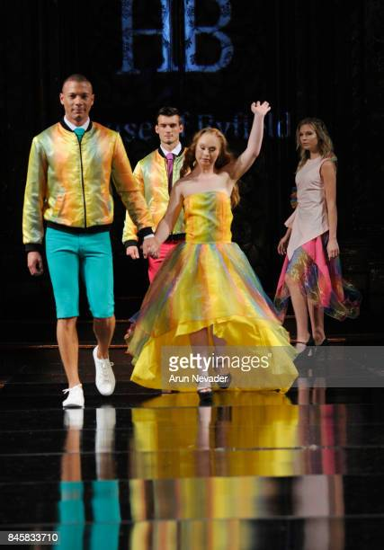 Model Madeline Stuart walks the runway for the House of Byfield fashion show during New York Fashion Week NYFW Art Hearts Fashion at The Angel...