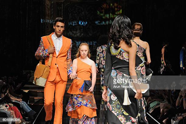 Model Madeline Stuart walks the runway wearing House of Byfield at Art Hearts Fashion NYFW The Shows presented by AIDS Healthcare Foundation at The...