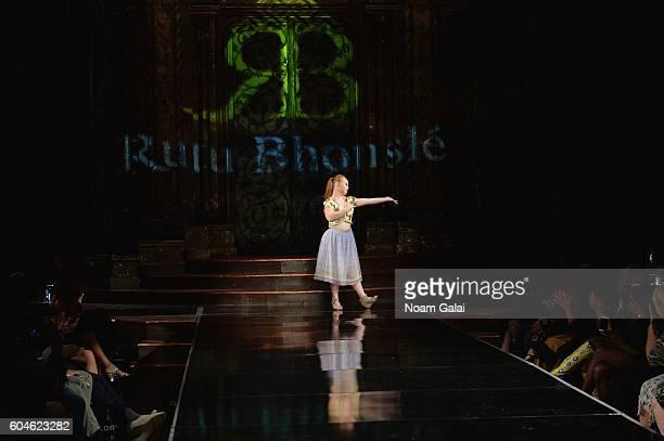 Model Madeline Stuart walks the runway wearing Rutu Bhonslé at Art Hearts Fashion September 2016 during New York Fashion Week: The Shows on September...