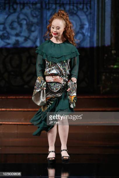 Model Madeline Stuartwalks the runway during HOUSE OF BYFIELD At New York Fashion Week Powered By Art Hearts Fashion NYFW at The Angel Orensanz...