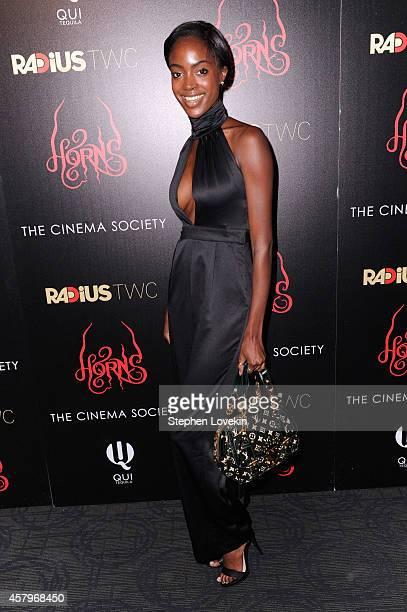 Model Madisin Bradley attends the RADiUS TWC and The Cinema Society New York Premiere of Horns at Landmark Sunshine Cinema on October 27 2014 in New...