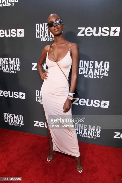 """Model Madisin Rian attends Zeus Network's """"One Mo Chance"""" Season 2 Premiere at AMC Universal at City Walk on September 19, 2021 in Universal City,..."""