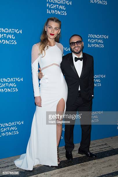 Model Madison Headrick and Richie Akiva attend the 2016 Foundation Fighting Blindness World Gala at Cipriani Downtown on April 12 2016 in New York...