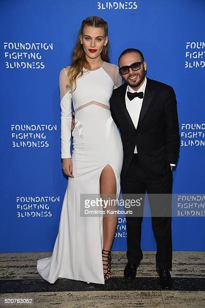 Model Madison Headrick and Richie Akiva attends the Foundation Fighting Blindness World Gala at Cipriani 42nd Street on April 12 2016 in New York City