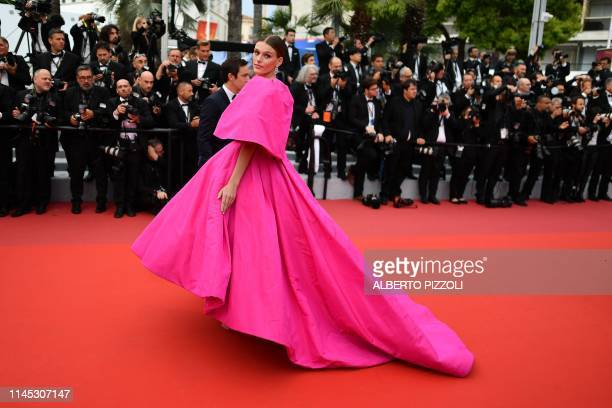 US model Madison Headrick arrives for the screening of the film La Belle Epoque at the 72nd edition of the Cannes Film Festival in Cannes southern...
