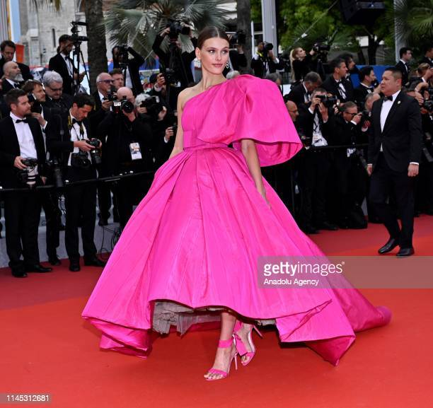 US model Madison Headrick arrives for the screening of the film 'La Belle Epoque' at the 72nd annual Cannes Film Festival in Cannes France on May 20...