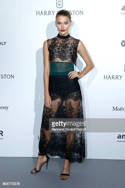 Model Madison Headrick attends the amfAR Paris Dinner 2017 at Le Petit Palais on July 2 2017 in Paris France