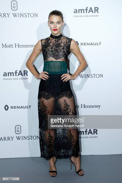 Model Madison Headrick attends the amfAR Paris Dinner 2017 at Le Petit Palais on July 2 2017 in Paris France