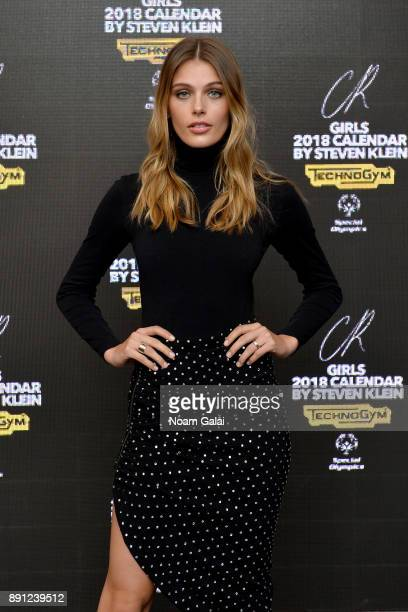 Model Madison Headrick attends the CR Fashion Book Celebrating launch of CR Girls 2018 with Technogym at Spring Place on December 12 2017 in New York...
