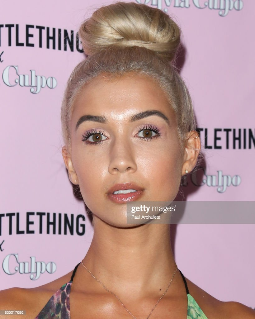 Model Madison Skylar attends the PrettyLittleThing X launch at Liaison Lounge on August 17, 2017 in Los Angeles, California.