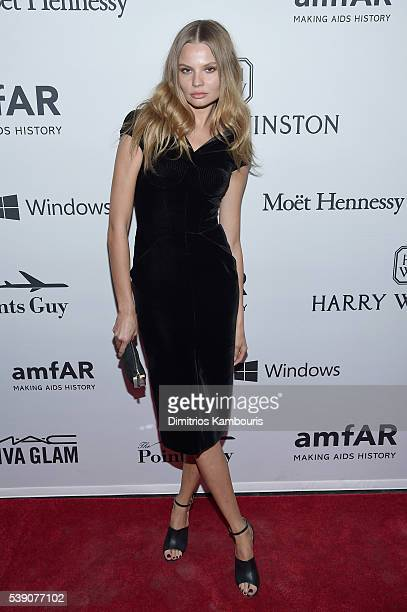Model Magdalena Frackowiak attends the 7th Annual amfAR Inspiration Gala at Skylight at Moynihan Station on June 9 2016 in New York City