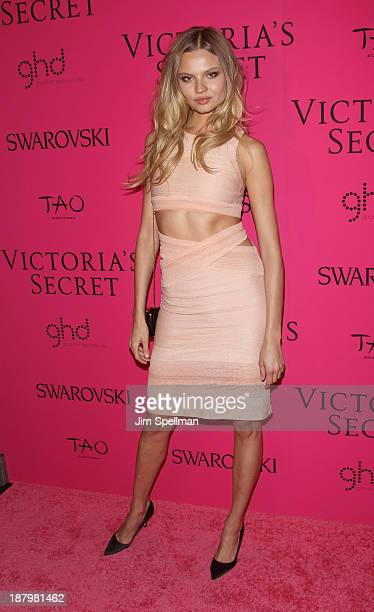 Model Magdalena Frackowiak attends the after party for the 2013 Victoria's Secret Fashion Show at TAO Downtown on November 13 2013 in New York City