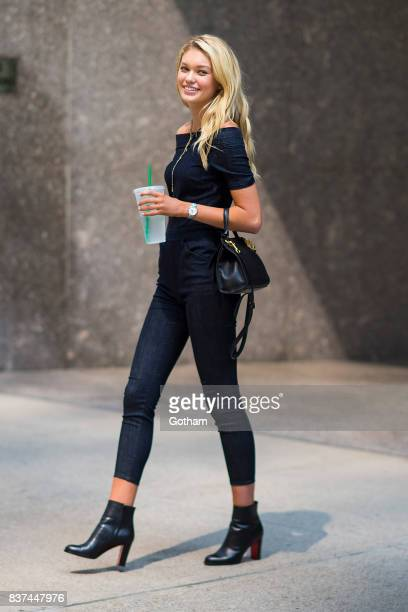 Model Maggie Lane attends call backs for the 2017 Victoria's Secret Fashion Show in Midtown on August 22 2017 in New York City