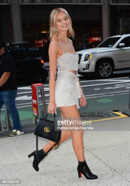 Model Maggie Lane is seen on August 30 2017 in New York City