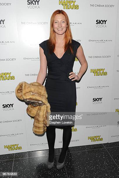 Model Maggie Rizer attends a screening of Happy Tears hosted by the Cinema Society and Donna Karan at The Museum of Modern Art on February 16 2010 in...