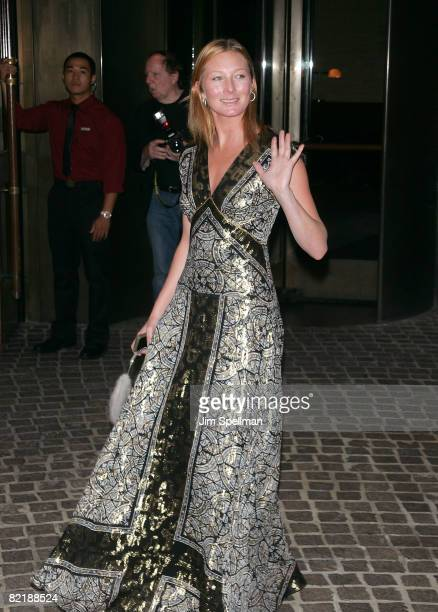 Model Maggie Rizer attends The Cinema Society and Glamour screening of Elegy at the Tribeca Grand Screening Room on August 5 2008 in New York City